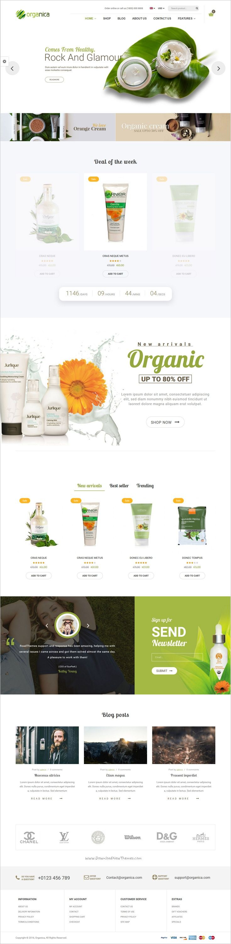 Orgnica is beautifully design responsive 6in1 #WordPress theme for #organic, beauty, #cosmetics or food farms eCommerce website download now➩ https://themeforest.net/item/organica-organic-beauty-natural-cosmetics-food-farn-and-eco-wordpress-theme/19055016?ref=Datasata