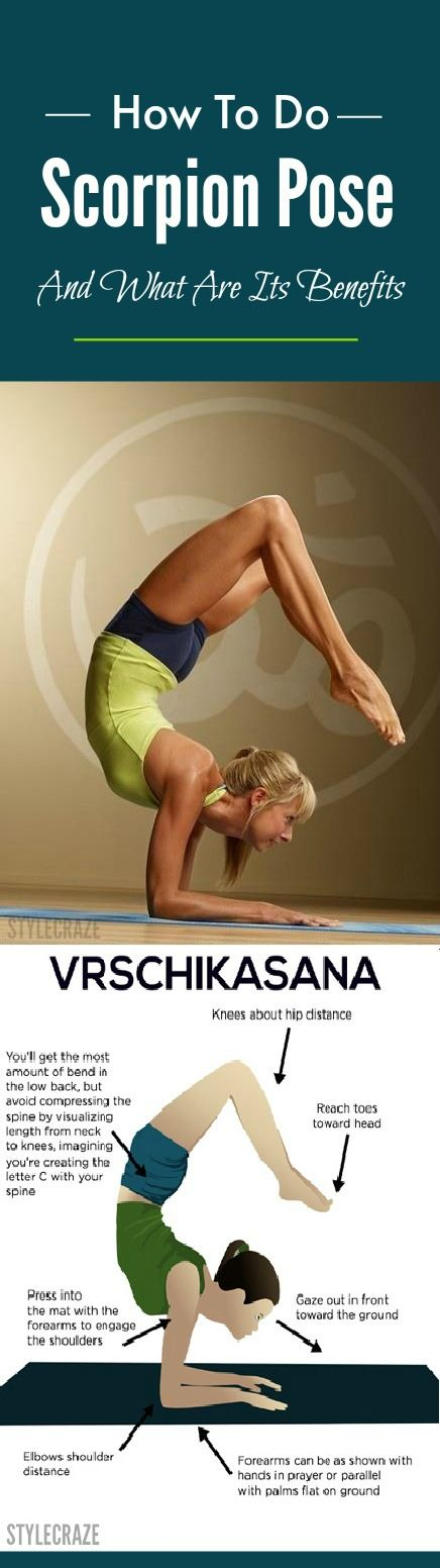 This asana is also known as the Scorpion Pose. It requires both core and shoulder strength. It is an extremely challenging yoga asana.