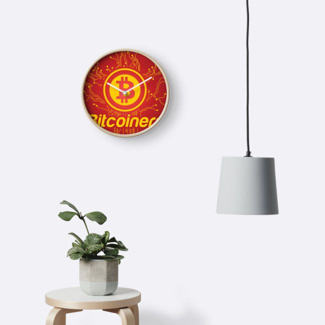 Creative Bitcoin Network by Gordon White | Wall Clock Available in 3 Frame Colors @redbubble  ---------------------------  #redbubble #bitcoin #btc #sticker #wallclock #homedecor  ---------------------------  https://www.redbubble.com/people/big-bang-theory/works/25889584-creative-bitcoin-network?asc=u&p=clock&rel=carousel