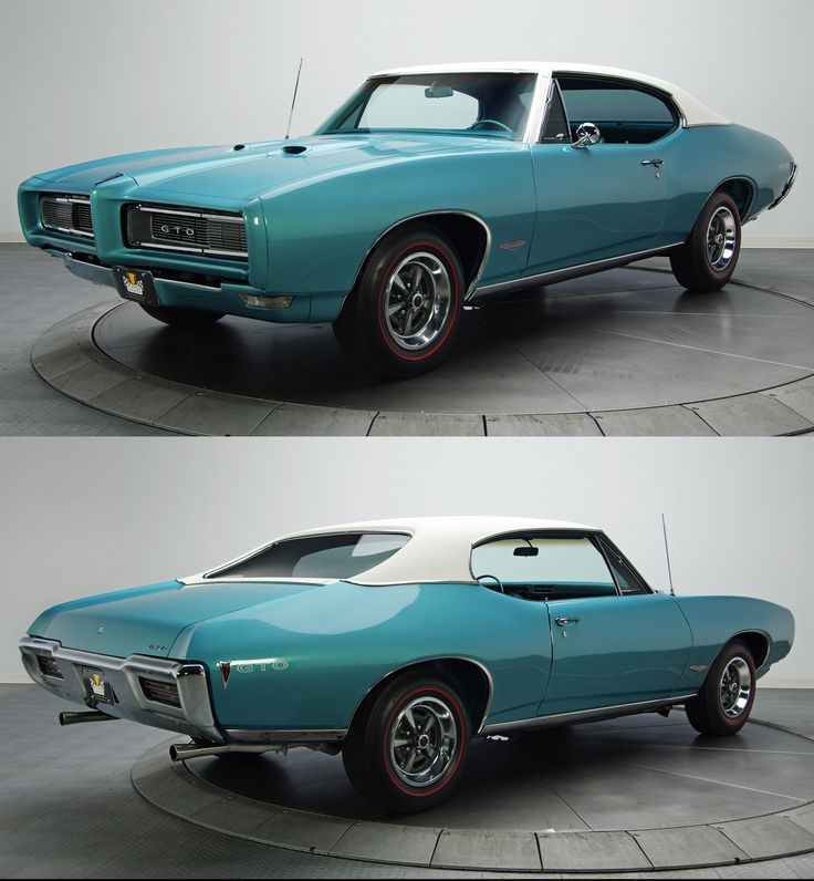 1968 Pontiac GTO ,I usually like the more custom classic's,fat tires,brighter paint BUT! just love this goat! Just awesome with the color a white vinyl top,really nice!
