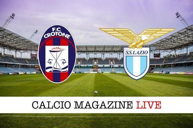 Crotone-Lazio risultato in diretta tabellino in tempo reale
