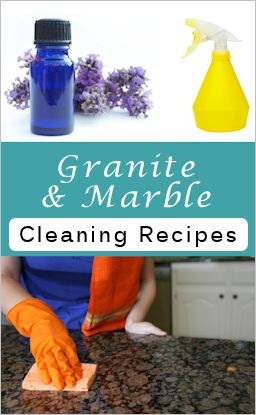 how to clean marble countertops naturally