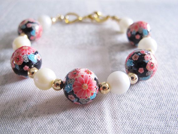 Oriental Floral Bracelet