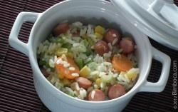 arroz de salsichas: Rice, Culinary