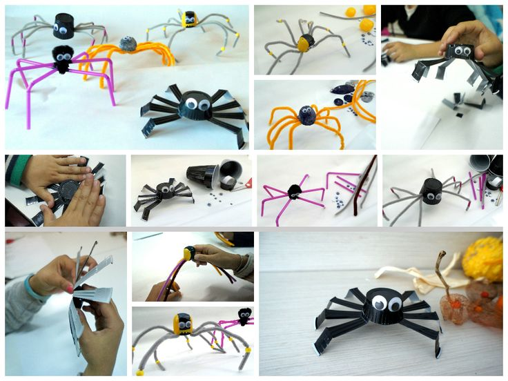 spiders from recycled items