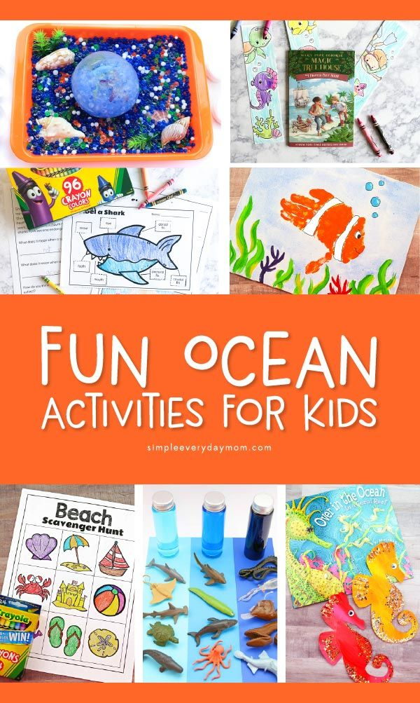 Ocean Themed Crafts For Kids With Images Ocean Theme Crafts