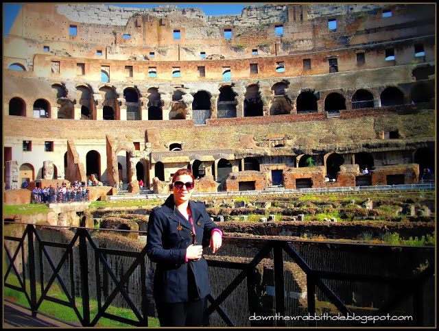 """Visit the interior of the amazing Roman Coliseum. Find out more at """"Down the Wrabbit Hole - The Travel Bucket List"""". Click the image for the blog post."""