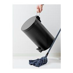 STRAPATS Pedal bin, matte black - matte black - 1 gallon - IKEA