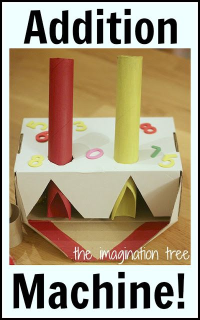Make a magical counting and addition machine for hands on learning! This is genius!