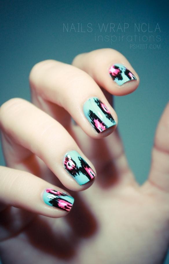 ikat-esque nailsNails Inspiration, Nails Art, Nailart, Ikat Nails, Funky Nails, Animal Prints, Prints Nails, Nail Art, Nails Wraps