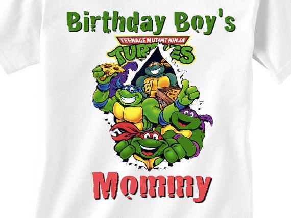 Teenage ninja turtle birthday mommy shirt by LittleBooKidsShirts, $14.99