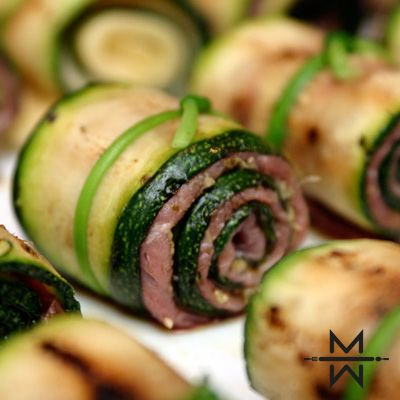Courgette carpaccio rolletjes