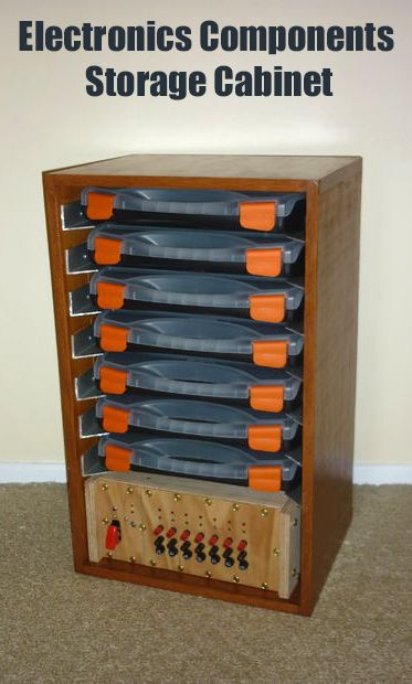 Electronics Components Storage Cabinet II | Store ...