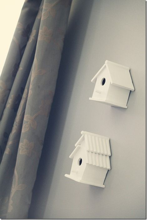 Bird House Decor (Could hide thermostat on wall)