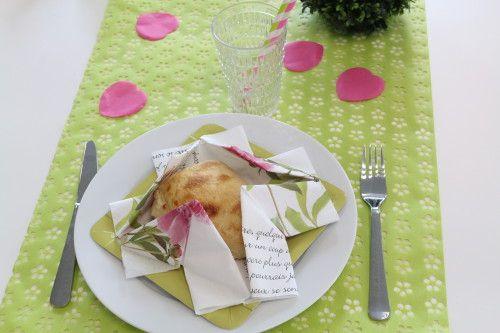 [TUTO] Pliage de serviette corbeille à pain - Mesa Bella Blog