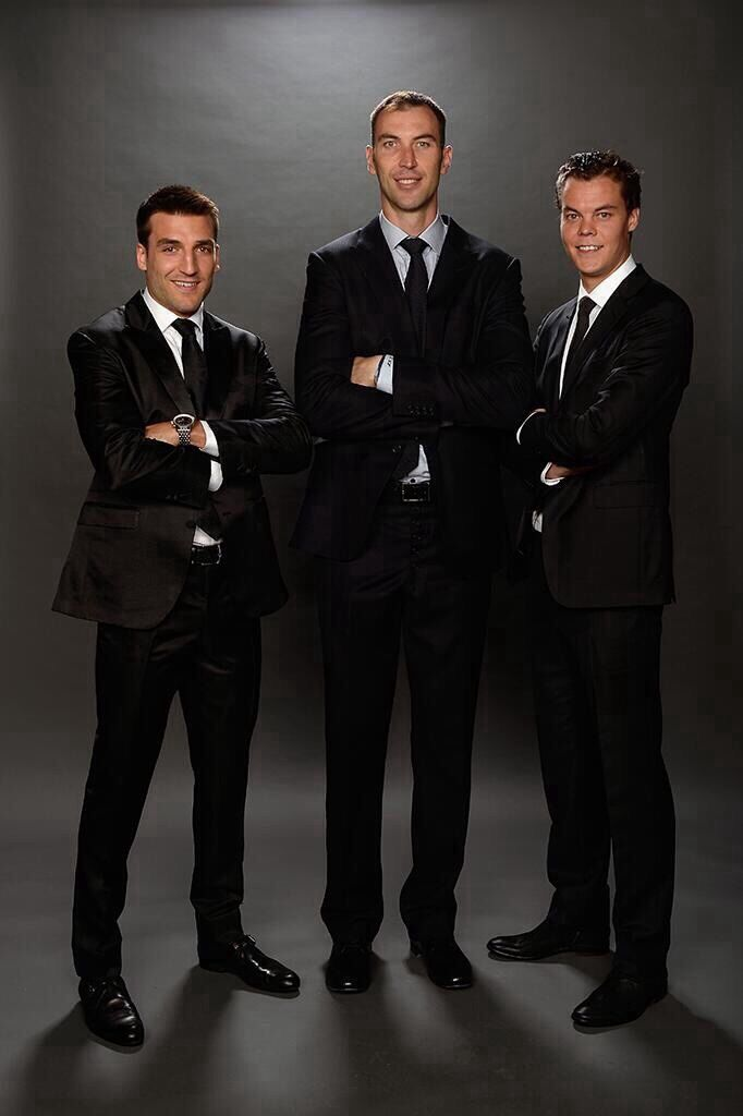 Patrice Bergeron, Zdeno Chara, & Tuuka Rask of the Boston Bruins