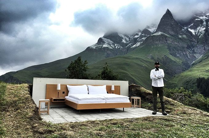 The world's first 'zero star' hotel, Null Stern – Image courtesy of Null Stern