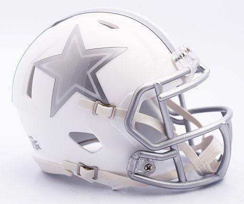 Dallas Cowboys Riddell NFL MATTE WHITE ICE SPEED Mini Helmet Brand New 2016 #DallasCowboys