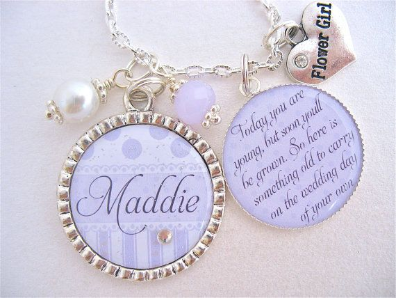 Childrens Wedding Gifts: FLOWER GIRL Necklace, Children's Jewelry, Personalized