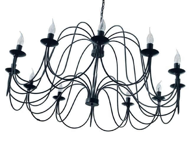 lustre indo 12 lumi res coloris noir r f 530423 castorama lustre indo colours en m tal. Black Bedroom Furniture Sets. Home Design Ideas