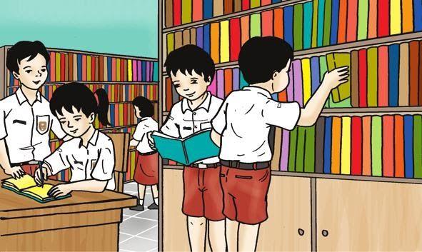 21 Gambar Kartun Siswa Membaca Buku Di 2020 Kartun Membaca Buku Buku