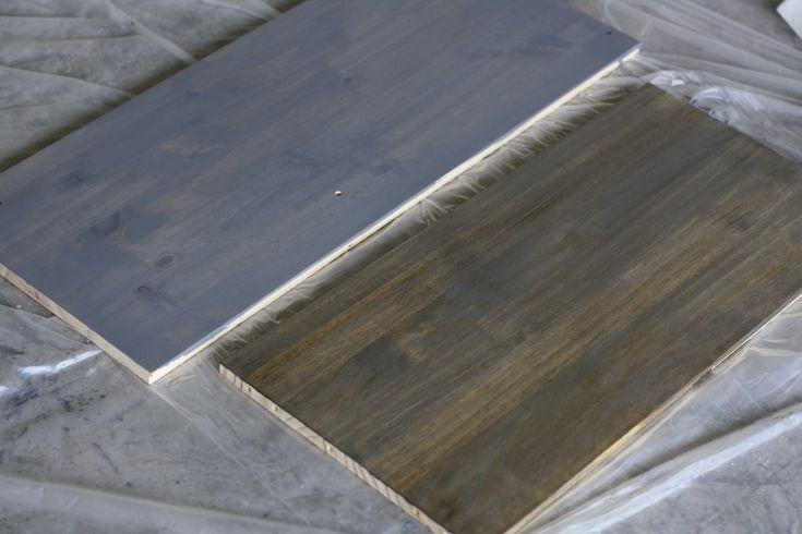 Rustoleum weathered gray wood stain with Annie Sloan dark wax - IKEA Rast Hack