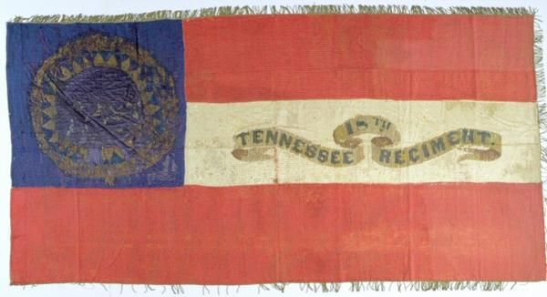 civil war flags crossed