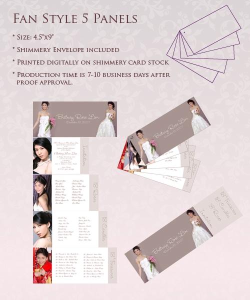 Fan Style 5 Panels Invite