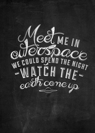 A combination of 2 of my favourite things.. Typography and lyrics written by Brandon Boyd!