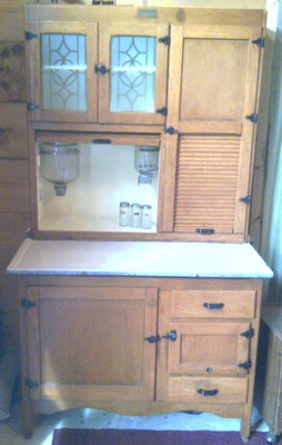 Hoosier cabinet, Etched glass and Glass doors on Pinterest