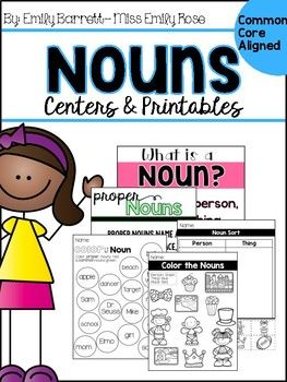 Nouns and proper nouns centers and printables for your classroom. With this pack your students will be working hands on with noun and proper noun activity as well as noun and proper noun printables. In this pack:-Noun Anchor chart-Noun sort (pictures & words)-Noun printables (color by noun, sorts & noun hunt) -Proper Noun anchor chart-Proper Noun scoot-Proper noun printables (sorts and color by noun)
