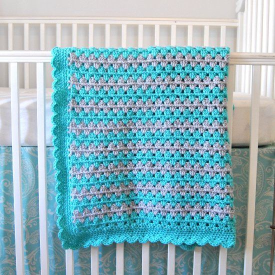 A 3-part beginner-friendly series with photo step-by-step to crochet this adorable granny stripe baby blanket! Perfect beginner project.