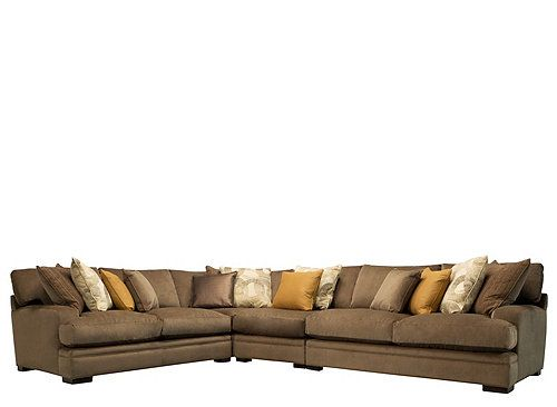 While This Deep Seated Cindy Crawford Fontaine 4 Piece Microfiber Sectional Sofa Certainly Offers Ample Room To Relax It Still Manages Feel
