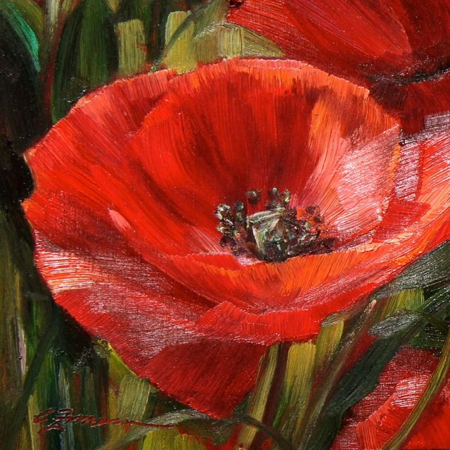 """""""Poppy Painting I""""Tuscan Poppies: The Chelsea Collection at Graham Fine Art 