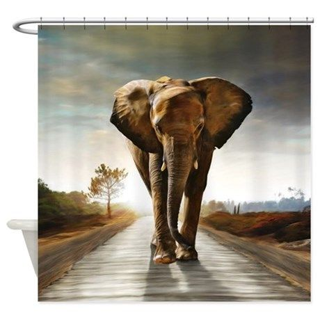 The Elephant Shower Curtain on CafePress.com