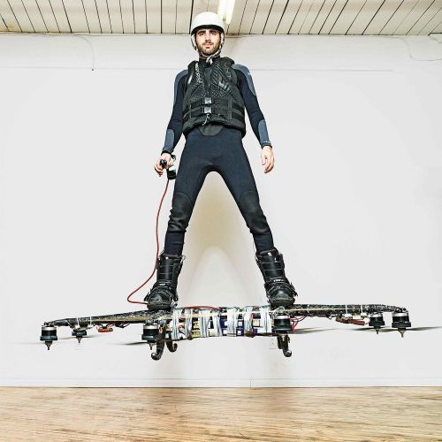 Canadian inventor Catalin Alexandru Duru has created a hoverboard that allows humans to fly.