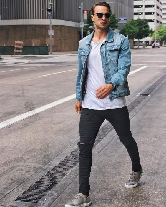 20 Men Looks With A Denim Jacket To Wear This Spring Cloth Mens