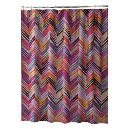 22 best Pink Chevron Shower Curtain images on Pinterest | Chevron ...