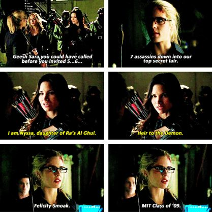 Arrow - Sara, Felicity & Nyssa al Ghul #2.23 #Season2