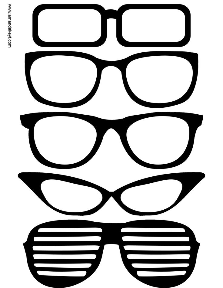 Glasses from Grad 2015 Printable Photo Booth Prop Set