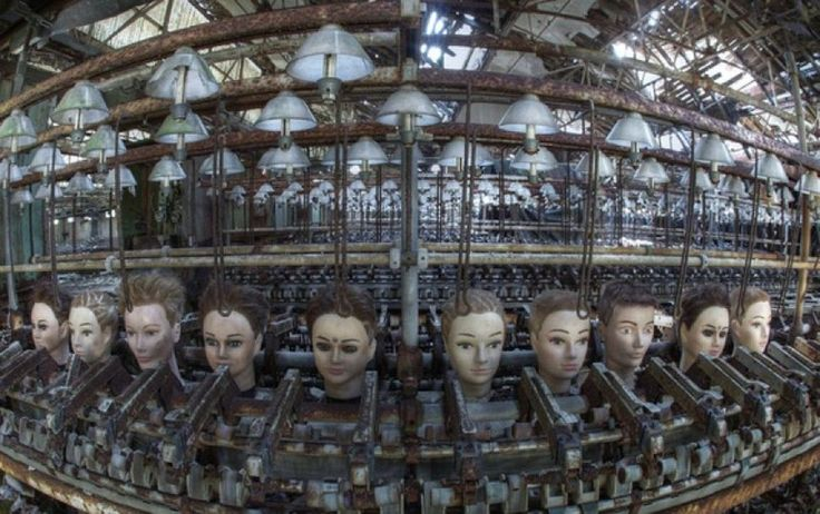52 Of The Coolest, Scariest Abandoned Places Around The World. Abandoned doll facory in Spain