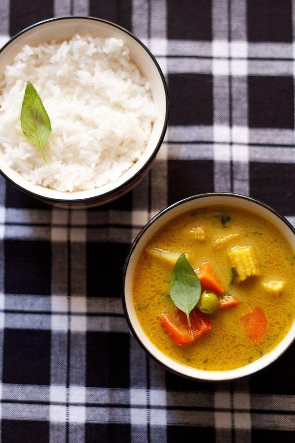 vegan thai yellow vegetable curry recipe