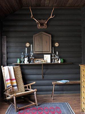 Inside a Sophisticated Michigan Cabin – #Cabin #lo…
