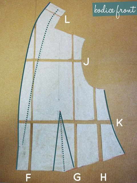 How to grade a pattern to a bigger (or, similarly a smaller) size.