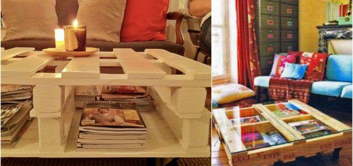 DIY τραπέζια από παλέτες