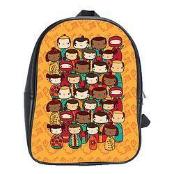 Leather Backpack/Kokeshi Kindy