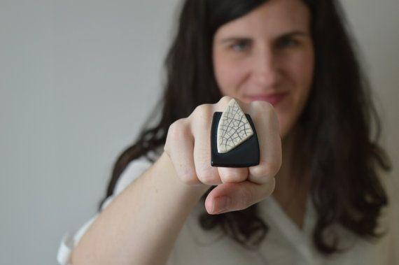 Anello regolabile in ceramica istruzione gioielli di islaclay