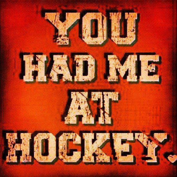 You had me at hockey...