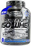 MuscleTech Platinum 100% ISO Whey 100% Whey Protein Isolates Powder Peanut Butter Chocolate Twist 3.33 lbs (1.51kg)