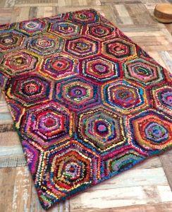 Hexagonal Rag Rug